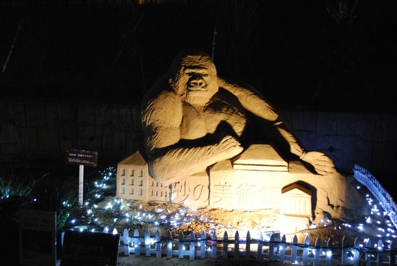 取砂丘イルミネーションと D-K LIVE 2010 in 砂の美術館 105