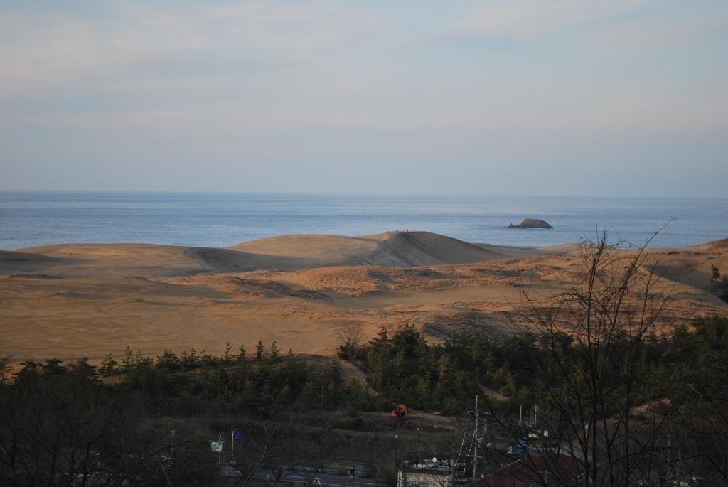 夕陽の砂丘