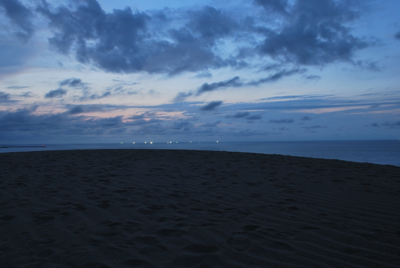 鳥取砂丘の夕暮れ 46