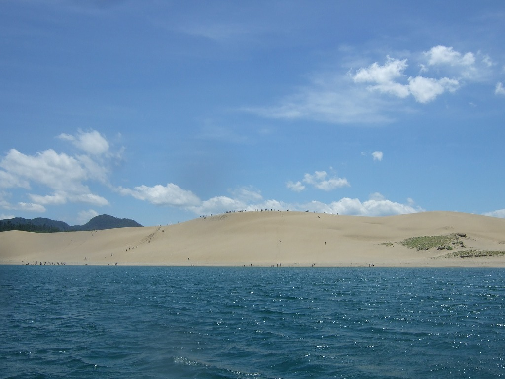北西沖からの砂丘